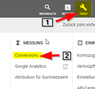 Google Ads Conversion Schritt 1