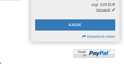 Paypal Button in Gambio
